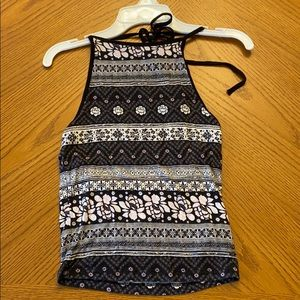 American Eagle Tied Patterned Top